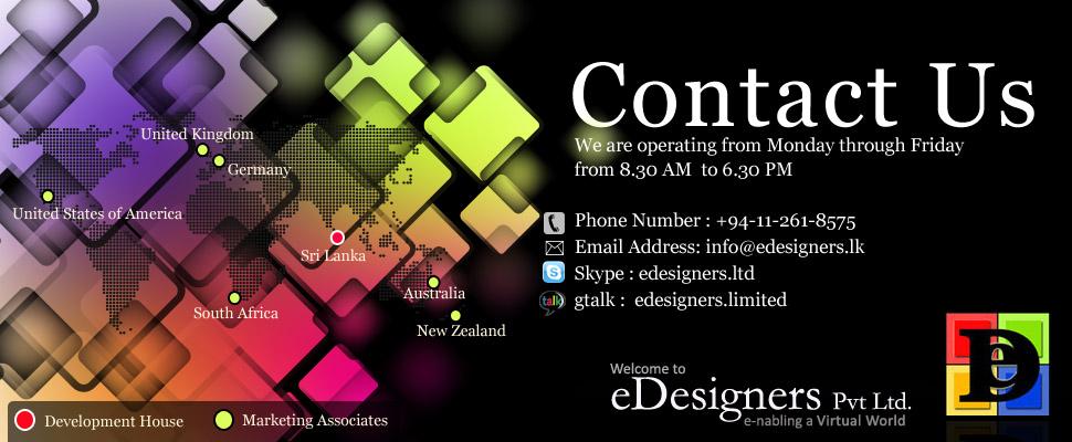 Contact | Web Design Company Sri Lanka | E-Designers Pvt Ltd